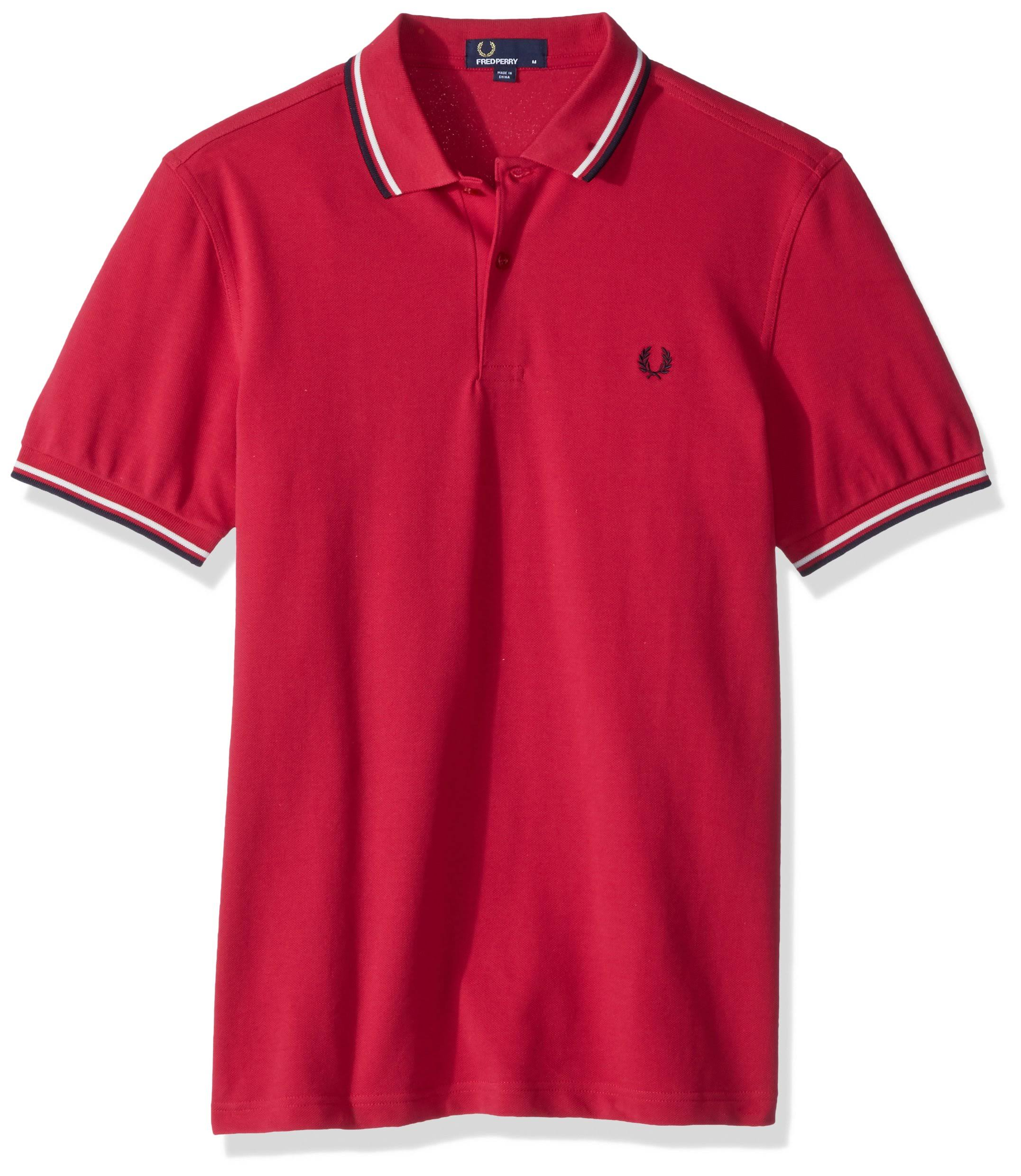 Pink Poliertes In Fred Perry Spitzen shirt Mit T Zwei pPxSPqwC