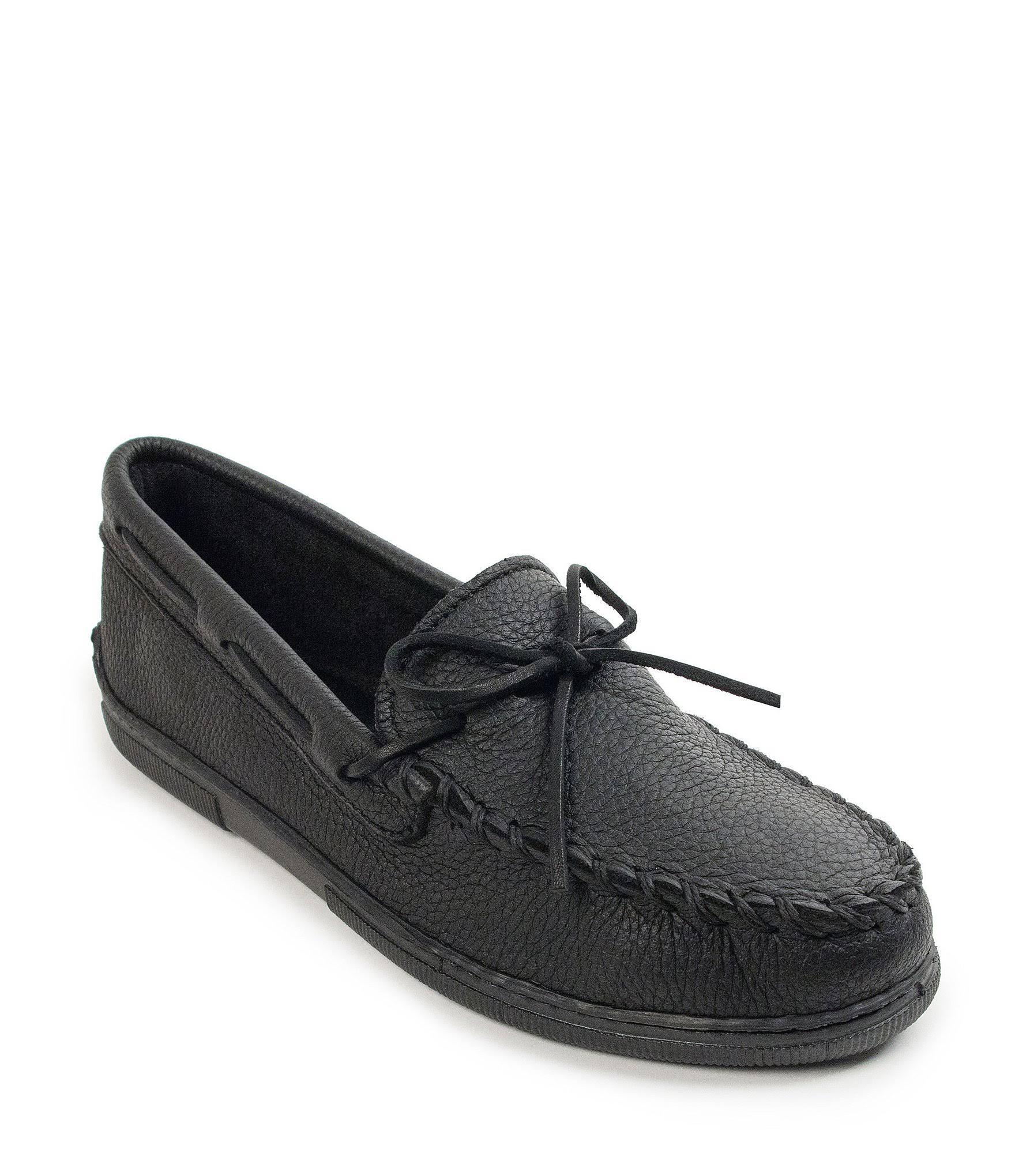 En Mens Negro W Moosehide Classic Minnetonka Shoes 12 Casual nA80qnwRC