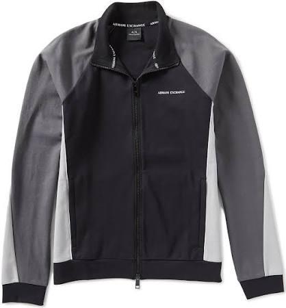 Armani Zip Schwarz sweatshirt Full Exchange aqnaSRwZ
