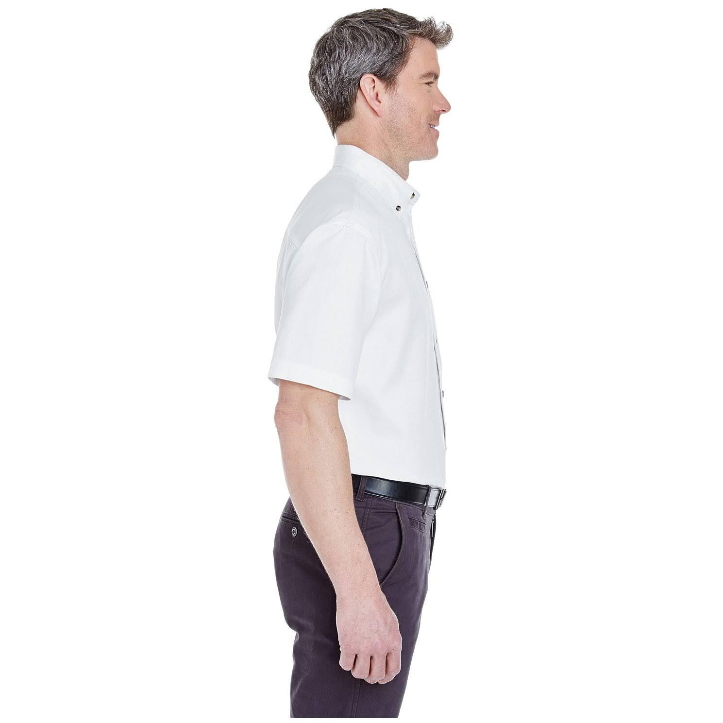 Mezclilla Para Grande Tejido Tejida 8965 Camisa Bolsillo Ultraclub De Adultos Blanco RPOBnAq