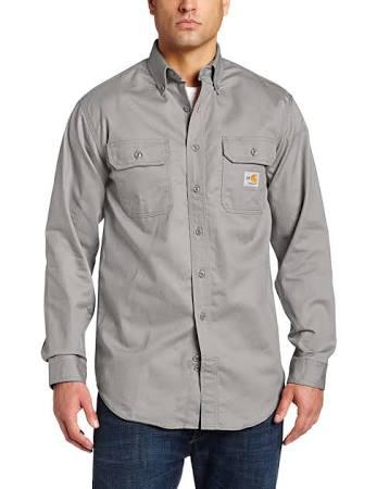 A Carhartt Sarga Camisa Clásica Las Para Hombre De Gris Resistente Llamas nI5x5R0