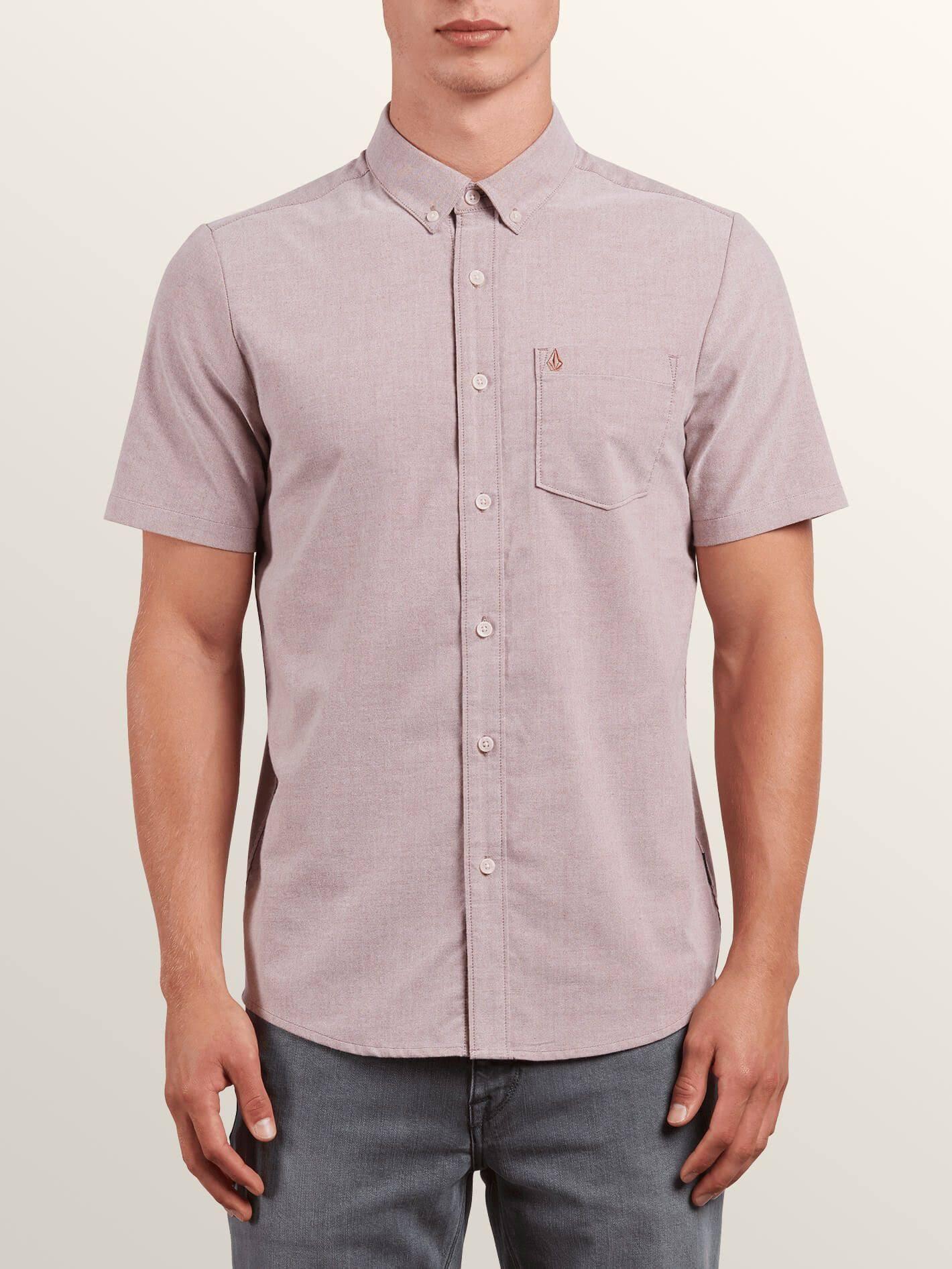 Oxford Everett Everett Camisa Camisa Volcom Volcom Oxford Carmesí Carmesí qg0TwUxU
