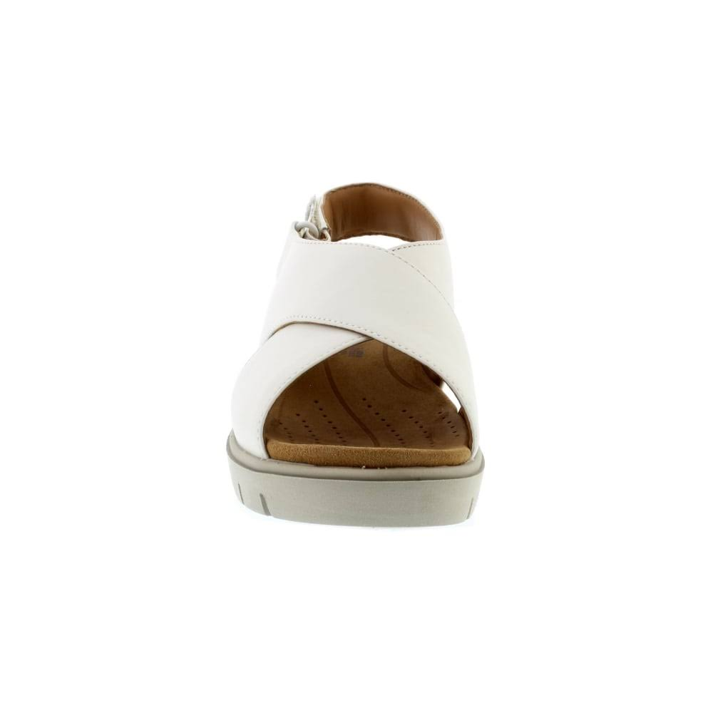 4 Uk White Size Leather Karely Hail Clarks Un wpZ67T