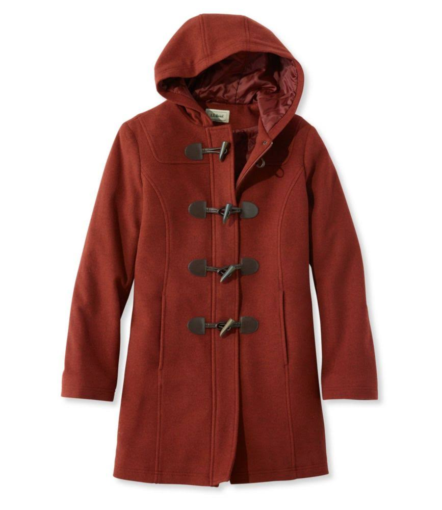 Red L Dufflecoat Toggle bean Wool Damen l Classic 14 wZBg4WqI