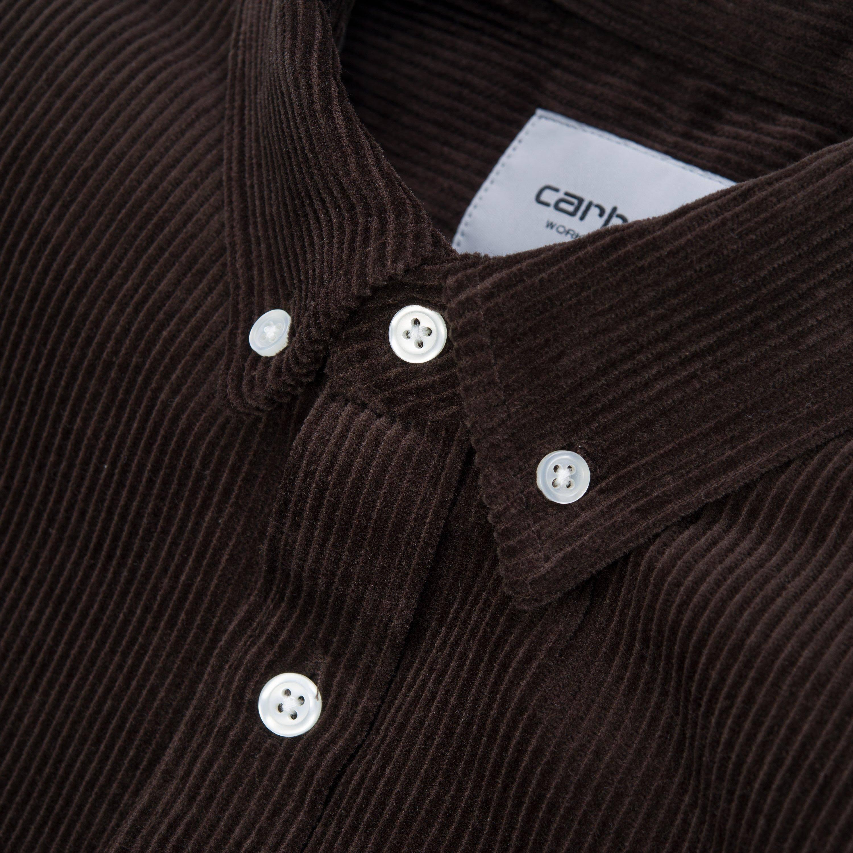 Carhartt Madison Wachsbraun Tabakbraun Cord Shirt z1rgzW