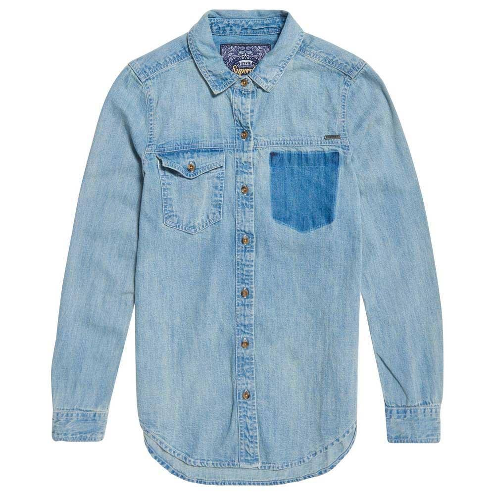 Superdry S Superdry Oversized Oversized S Denim Denim S Pacificblue Superdry Denim Oversized Pacificblue fTUqBWH