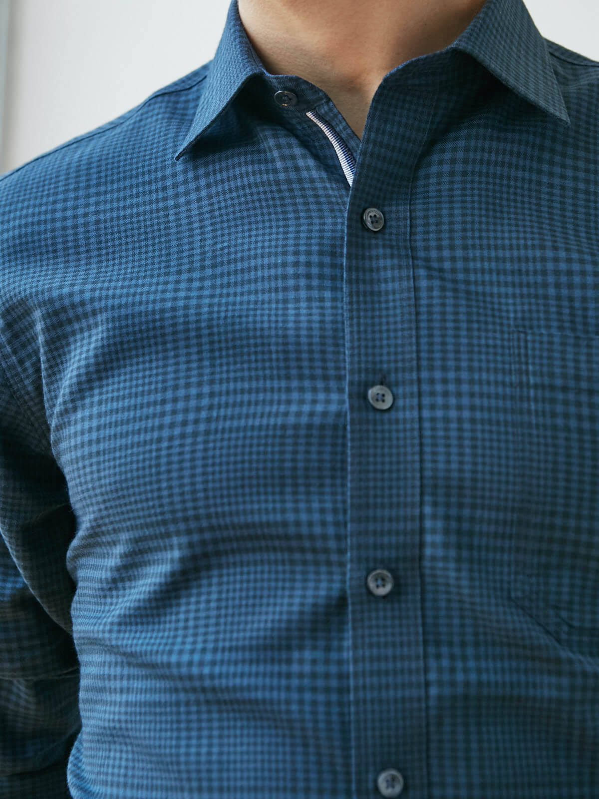 Classic Wales Shirt gt;bugatchi Prince Long Fit Of Check Sleeve Cotton OwRZO