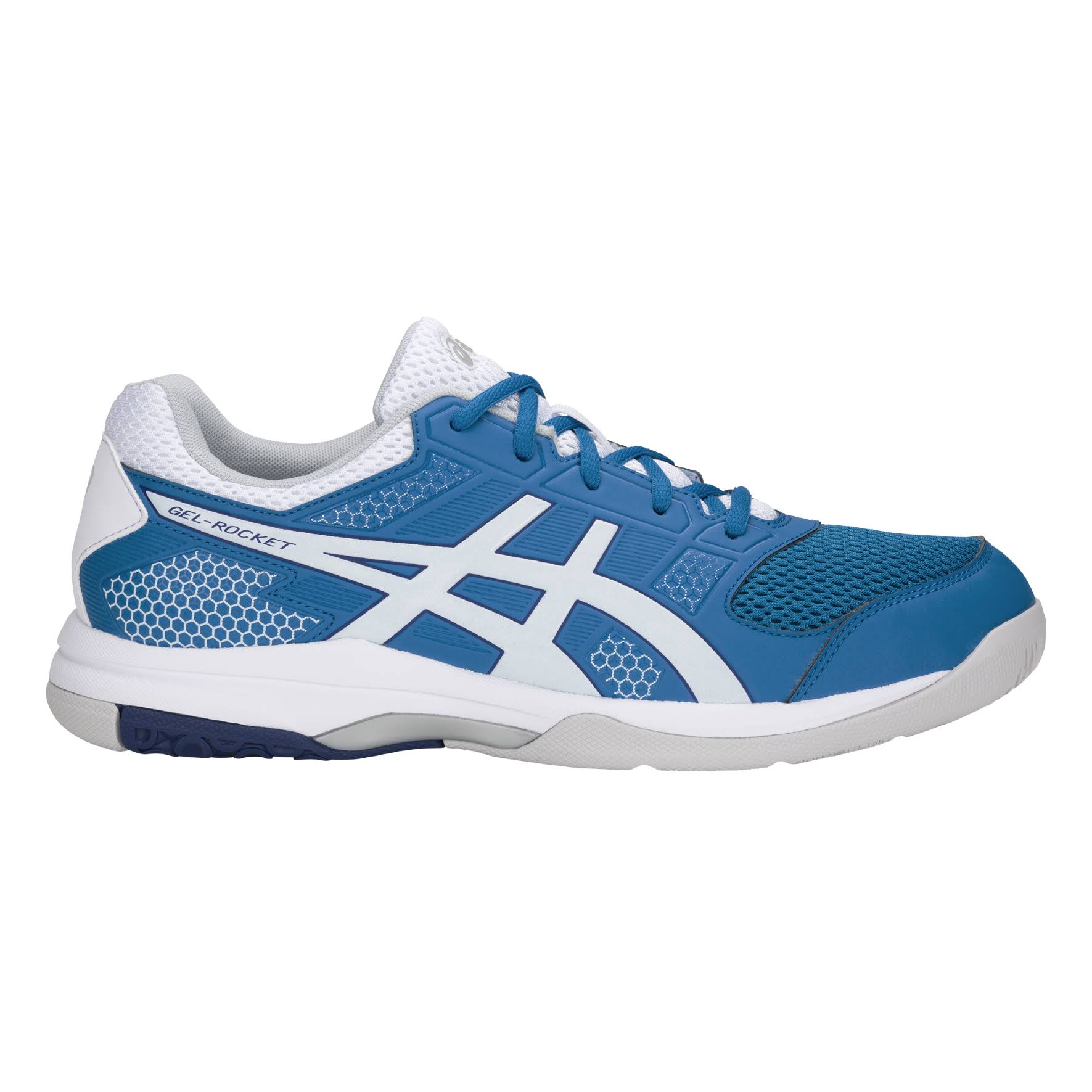 AsicsGel rocket Blu Shoes 8 Bianco 9IHE2WD
