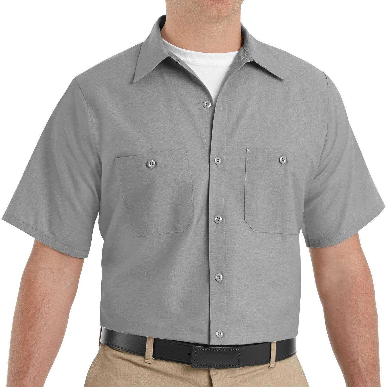 Männer Regular Für Arbeitshemd Rotes Kurzarm Kap Fit 8B78g