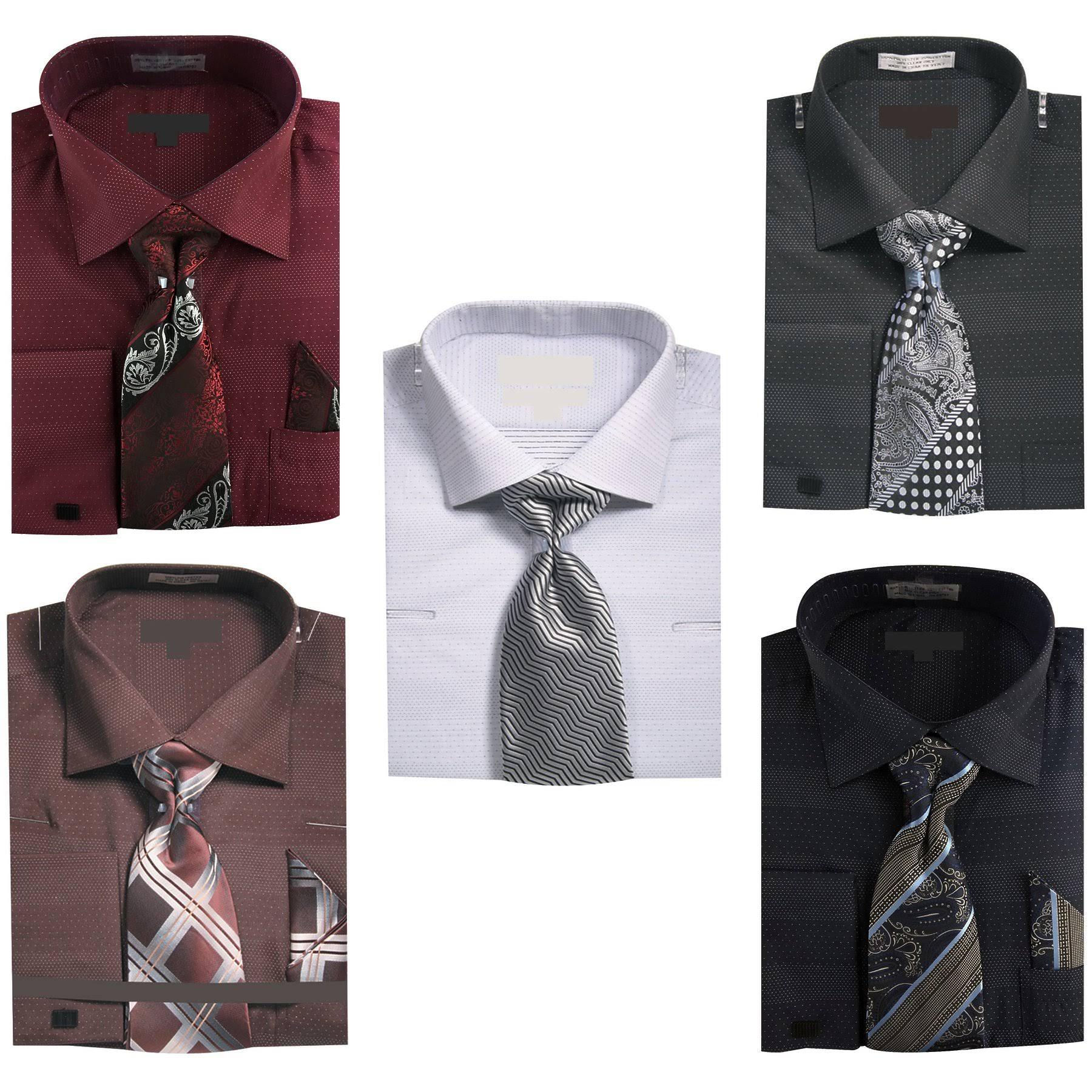 Hanky Tie Herren Shirt 34 35 W Outlet Größe Schwarz Sunrise Dots 17 manschettenknöpfe Dress Micro 5 8pRwc1q