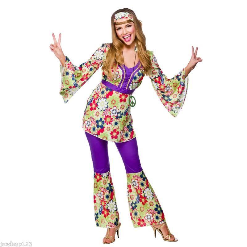 Disfraces Hippy Mujer Traje Para Groovy Retro Disfraz 60s De Hippie 70s Flare 6nqwxHw