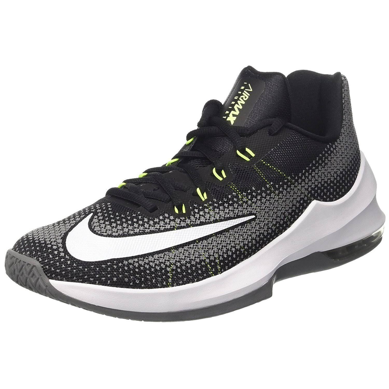 Para Baloncesto Nike 5 Infuriate Low 8 Sintético Tamaño Negro Hombre Air Zapatillas Max Cuero De White qvwUfU