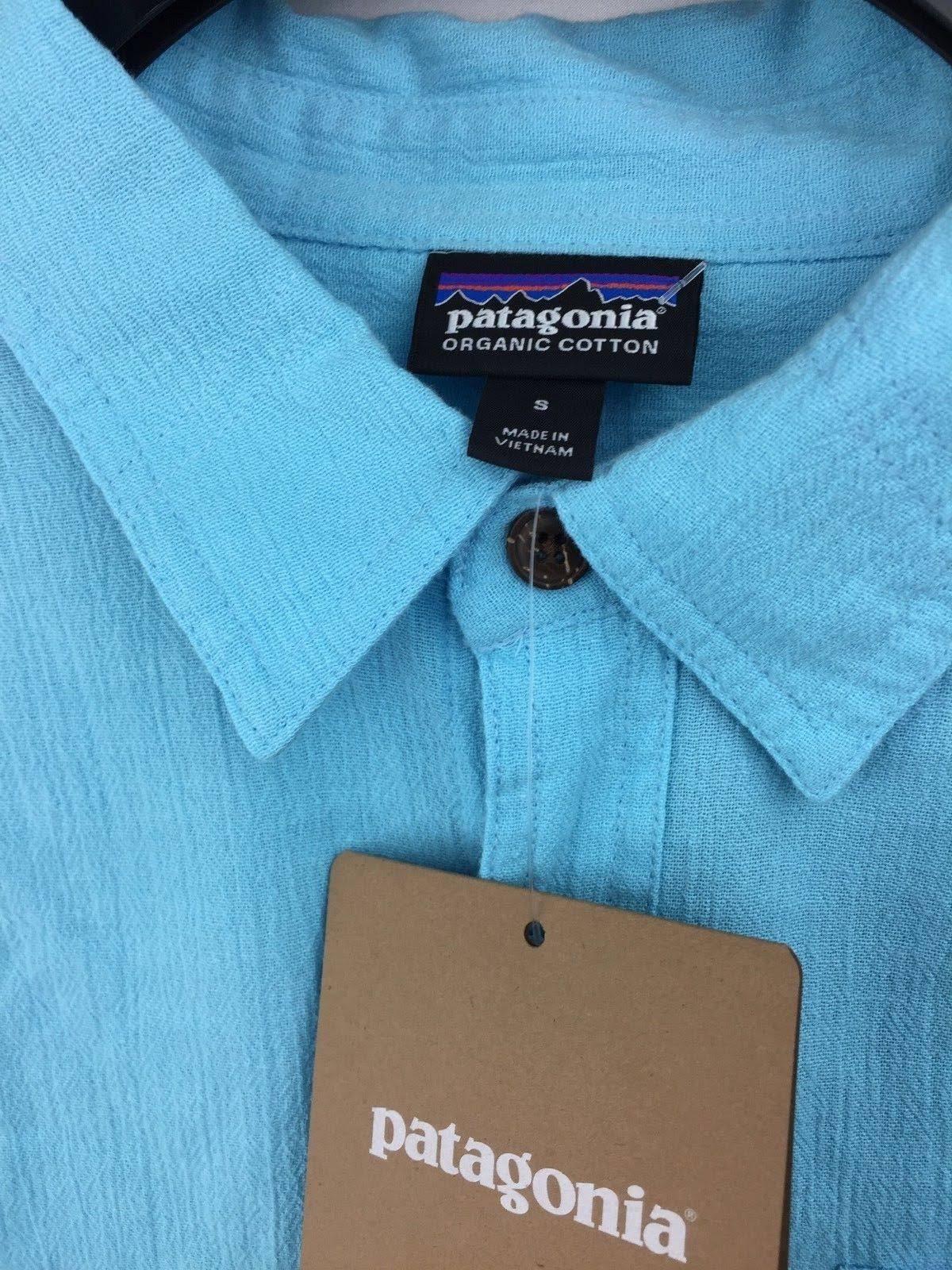 Azul S C Patagonia Cubano Hombres Camisa A Y7IqFF