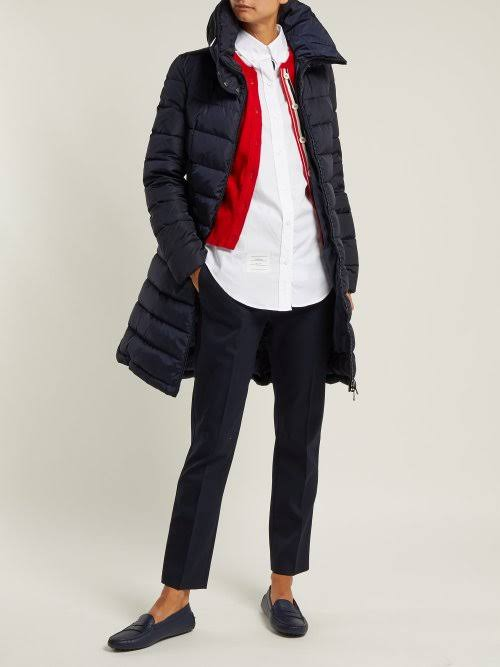 Azul Mujer Flammette Coat Packable Moncler 1 Puffer Hood W YB1dB0qw