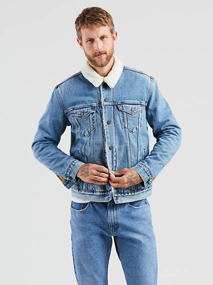 Regular Para Hombre Chaqueta M Levi's Sherpa Youngstown Trucker 4w61tq0