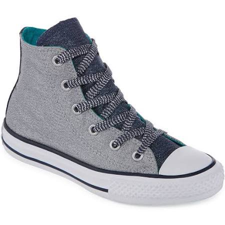 midnight Girl's Taylor 1 Shine Grey Star And Converse Wolf Chuck Grey Shimmer midnight Sneakers All Medium Rwx5Hg