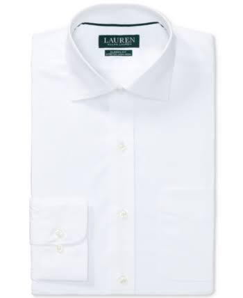 Männer Normal Popeline hemd Bügelndes Klassisches 35 15 Lauren Weiß Ralph Geschnittenes Elastisches 34 Nicht qZ5wzt8