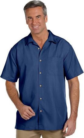 Harriton Barbados Xs Camp Pool Blau Shirt Textured Größe M560 w616Rgx