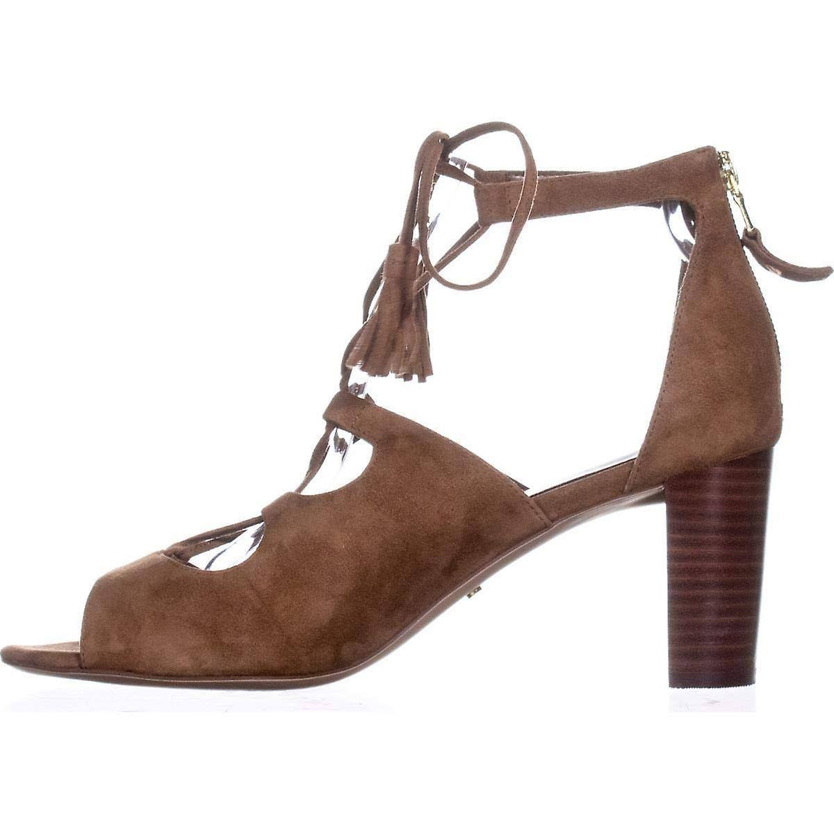 Lauren by Ralph Lauren Womens Hasel Leather Open Toe Casual Strappy Sandals Brown 9.5 US / 7.5 UK  zsgyBd