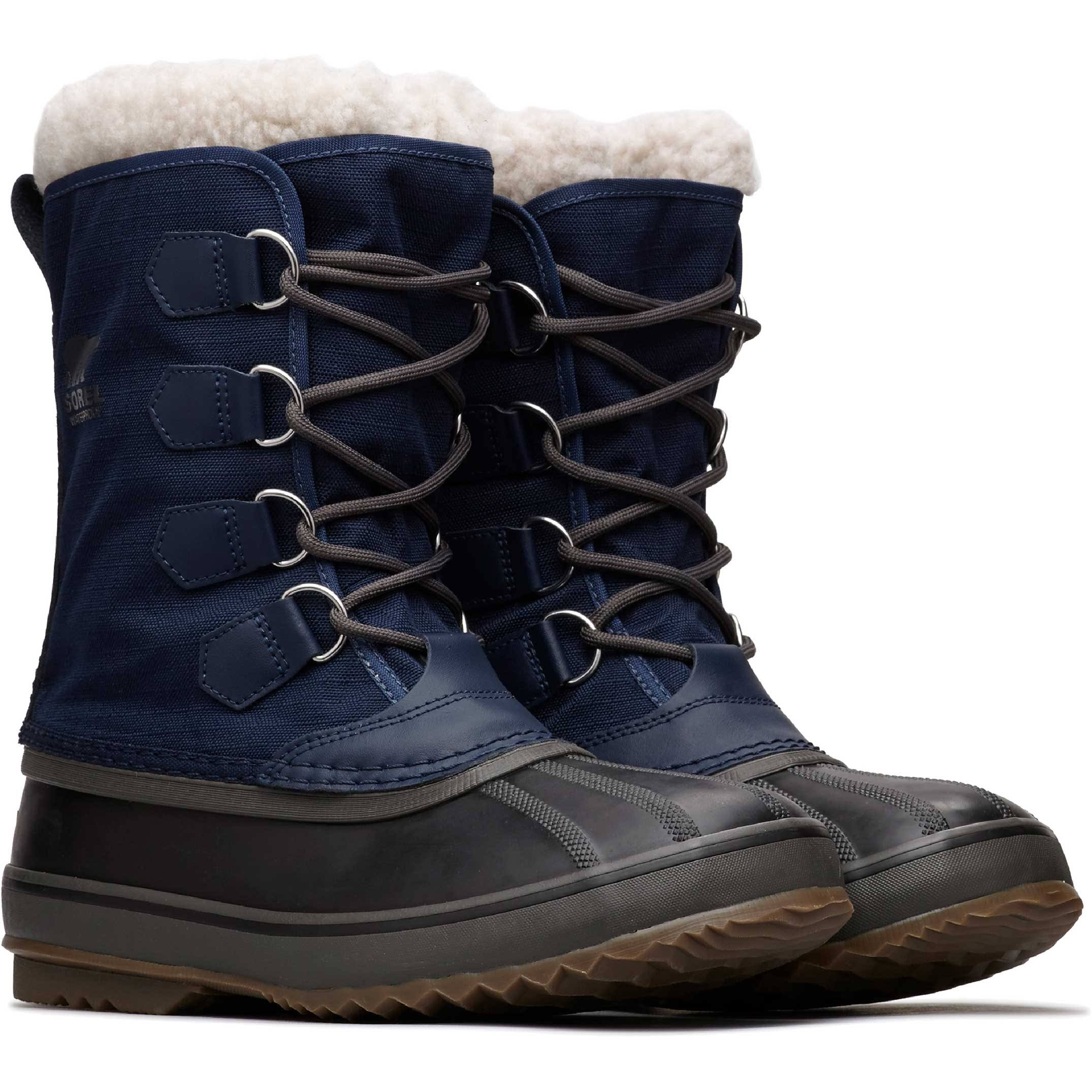 Collegiate Sorel Nylon Pac Boots Snow Navy 1964 1wxvw4