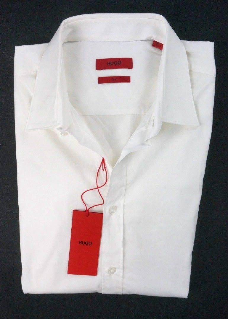 Camisa Hugo Botones Formales Elisha Blancas De Camisas Con Slim Corte rqf6awr