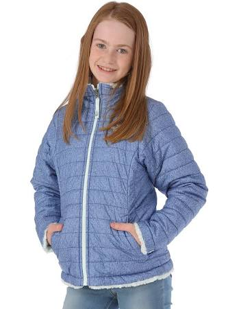 Face Usebrightnavywhiteheather Jacket Reversible Girls The Xs North Swirl Mossbud FZnfSf