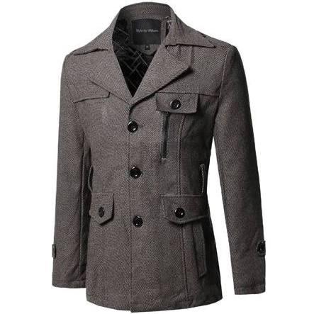 Los Patrón Fashionoutfit Escudo Clásico Hombres De Marrón Tweed Desmontable Cinturón S nSafUF