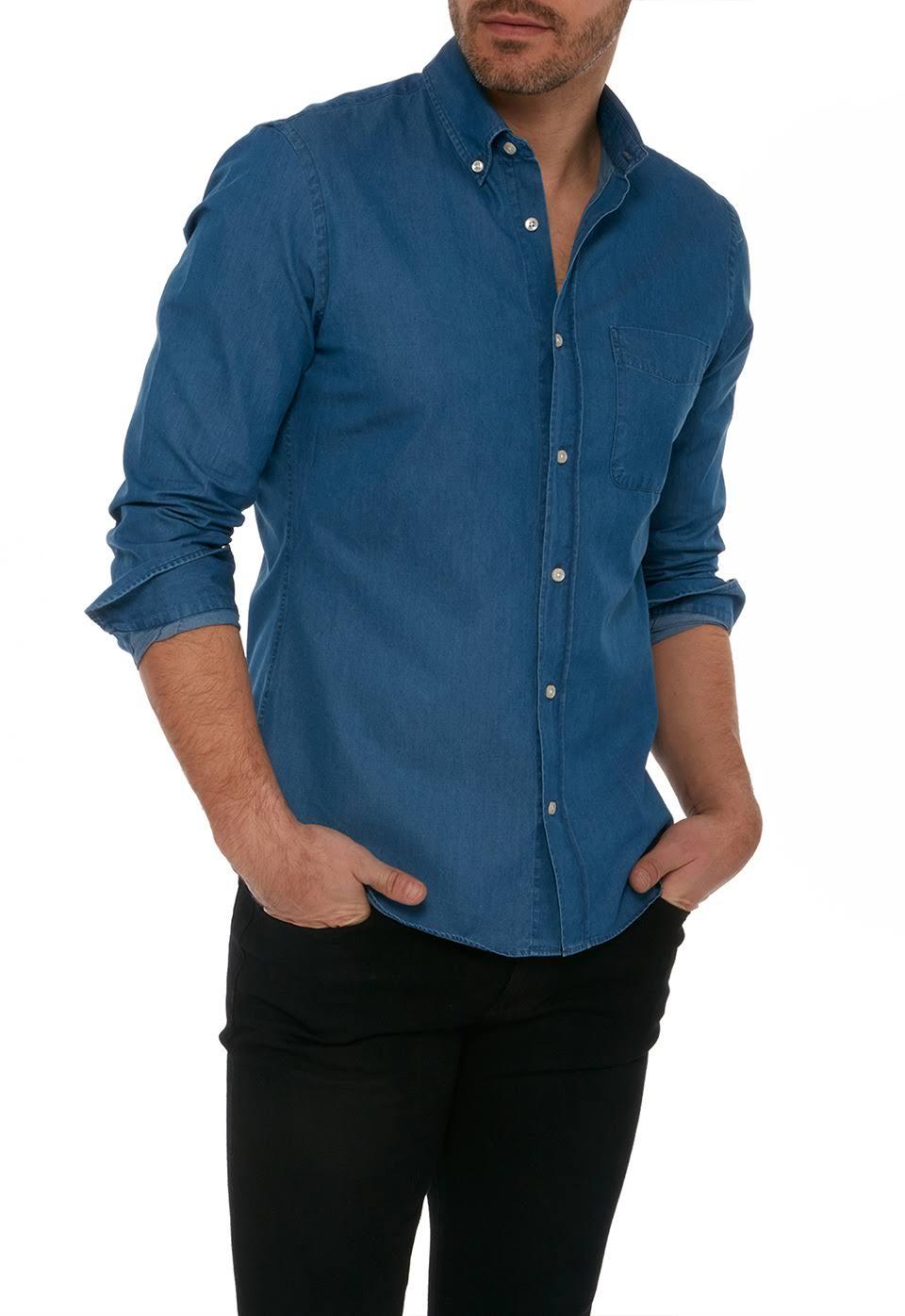 Graham Button Medium Slim Down Blue qR8yUFw
