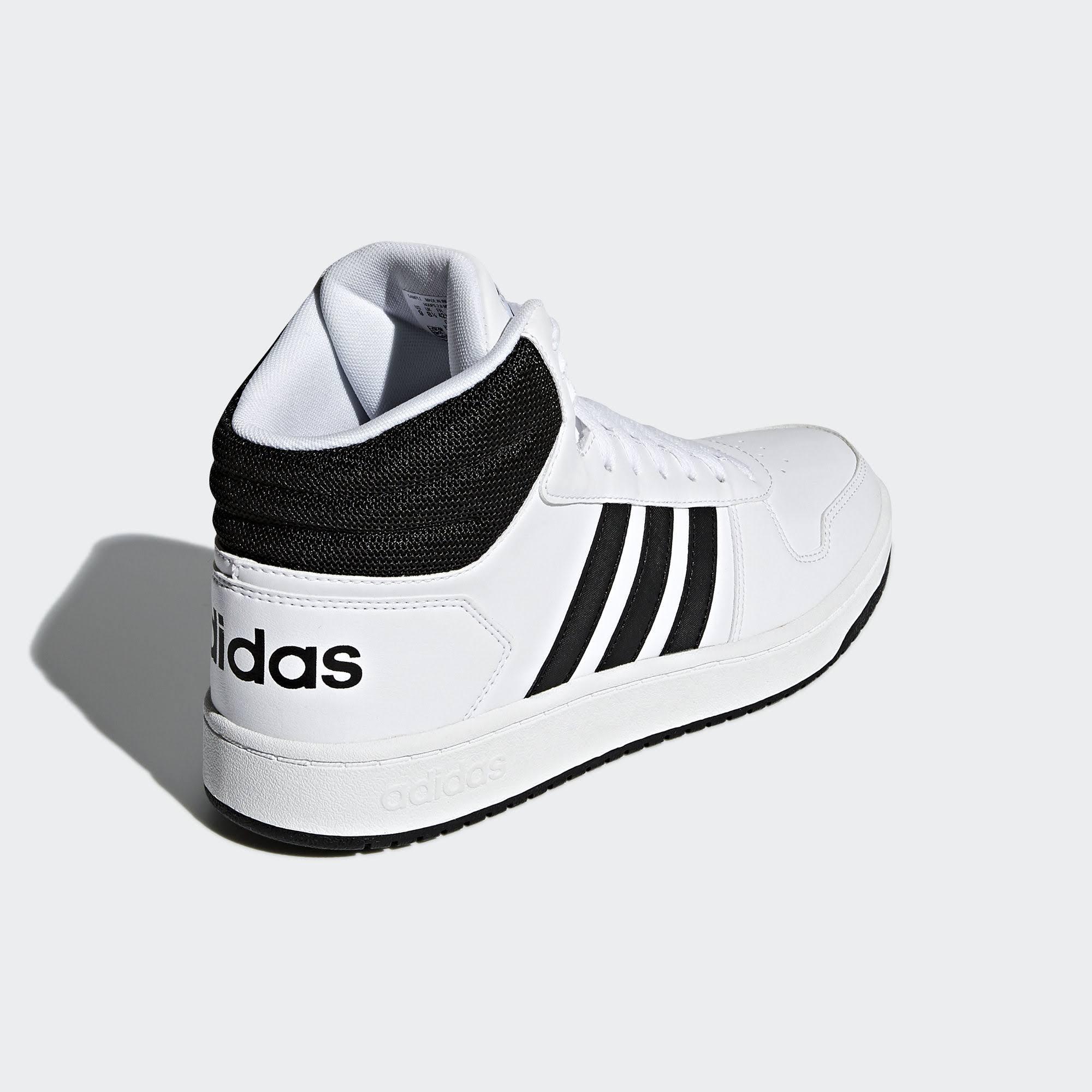 Mid 2 Adidas Schuhe 0 Schwarz 5 White 9 Cloud Hoops Weiß Herren qaccTZ1g
