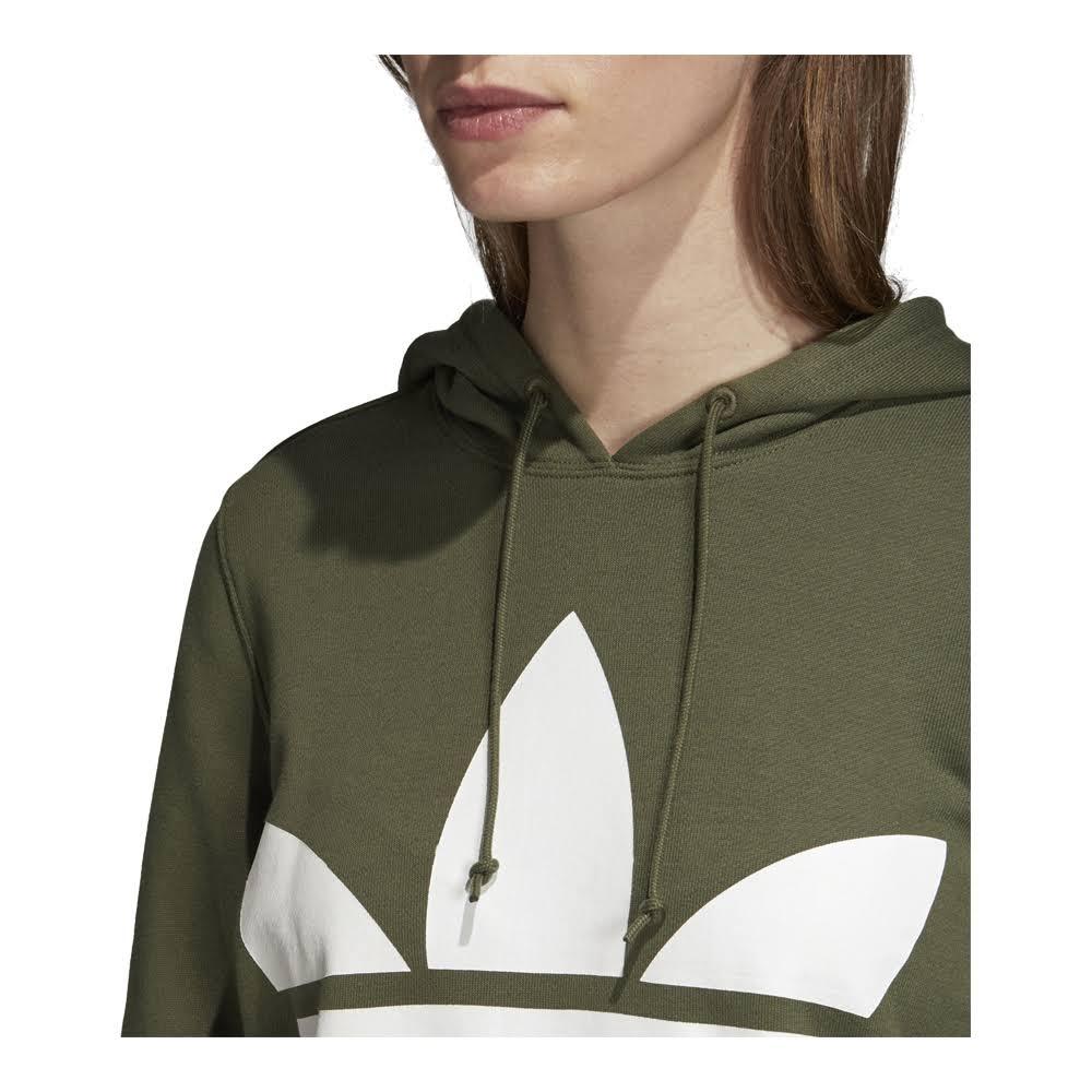 cappuccio donna con Trefoil Originals Felpa da Adidas Verdebianca I6vY7gymbf