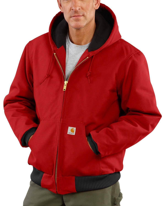 Rojo Con J140 Chaqueta 2xl Para Hombre Carhartt Altura Pato De Franela Acolchada zqTHXx4