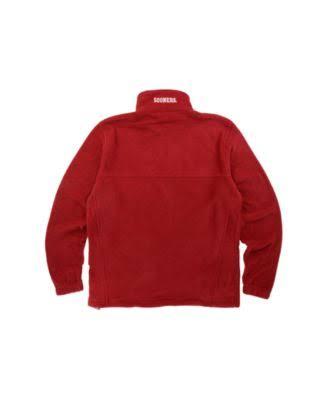 Flanker Cremallera Sooners Con Para Columbia L Chaqueta Rojo Hombre De Completa wanxX7g