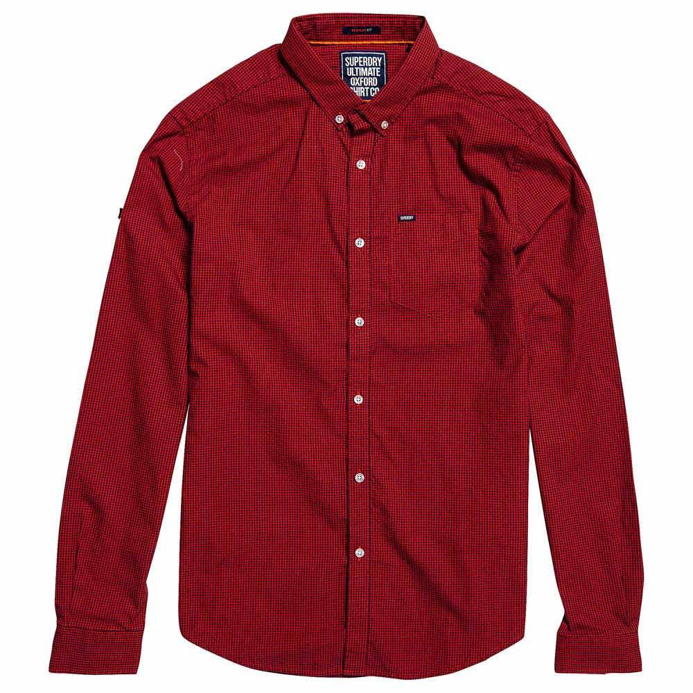 Camisa Oxford Tamaño Hombres Para De Superdry La M Rojo Ultimate Universidad wwadqr1
