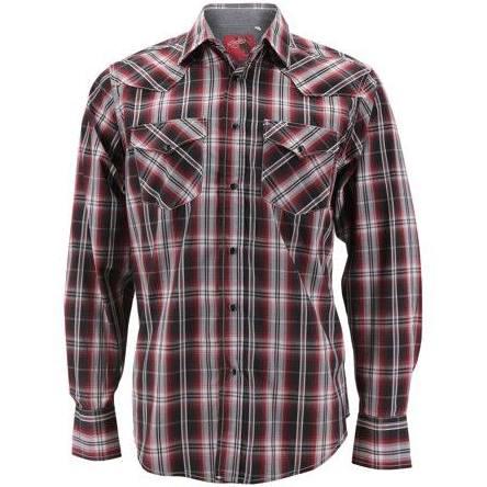 Kleidung Herren Cowboy Rodeo Perle Premium Kariertes Hemd Western weiß dUOqw5FqW