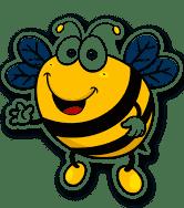 2 x 15cm/150mm Happy Bee Vinyl Sticker Decal Laptop Travel Luggage Car iPad Sign Fun #5346