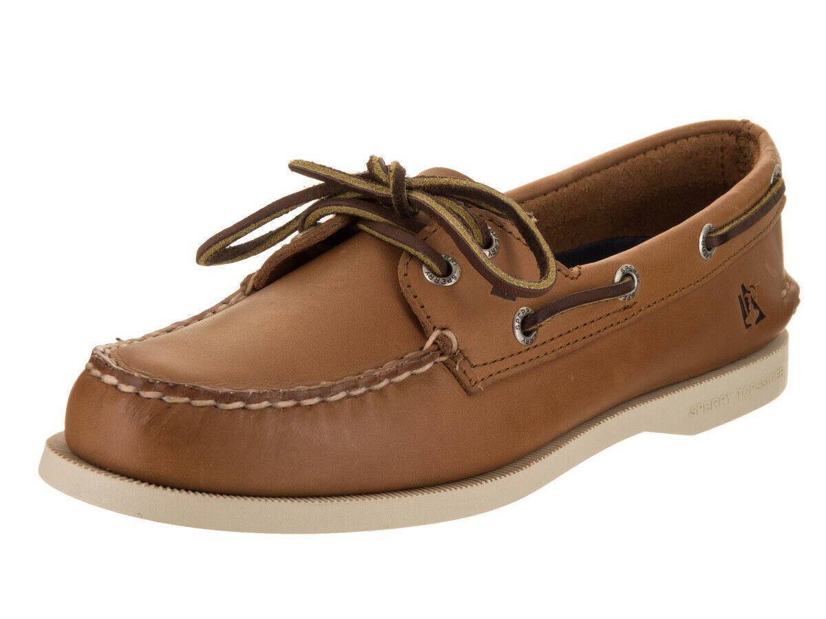 Tan Boat sider Da Sperry Original eye Donna 2 8 Shoe Top 5 Beige Authentic CBoxredW