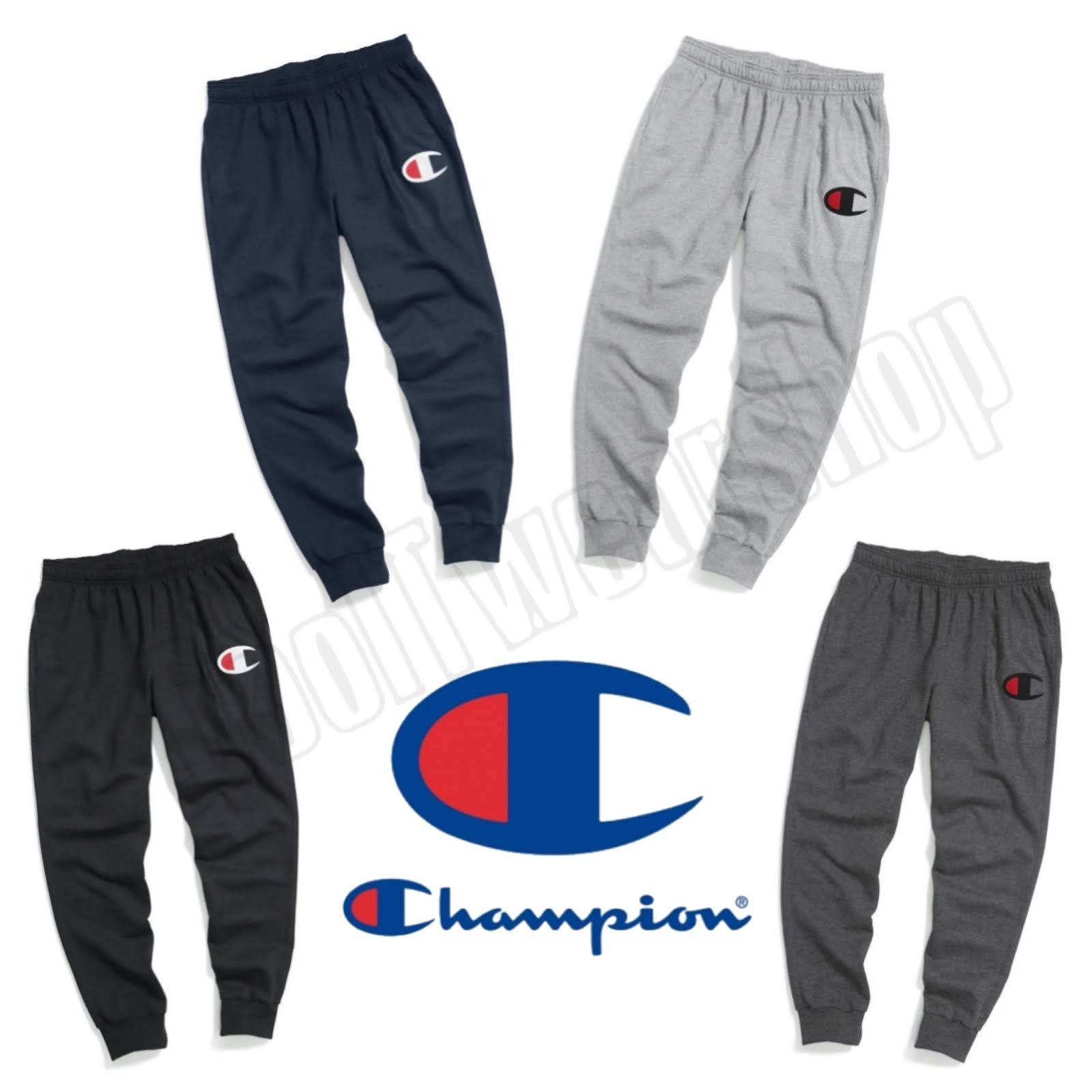 Big Grey De C Logotipo Hombres Oxford Para Vellón S Powerblend Champion Joggers vx08w0