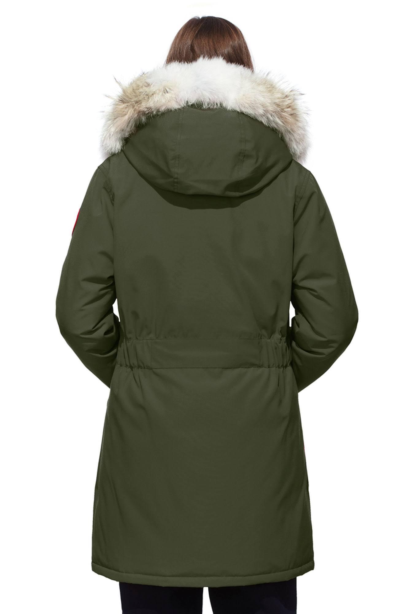 Goose Mujer Trillium Y Ganso Xs Canadá Chaqueta De Piel Capucha Parka Con Verde qaWwwTP8zf