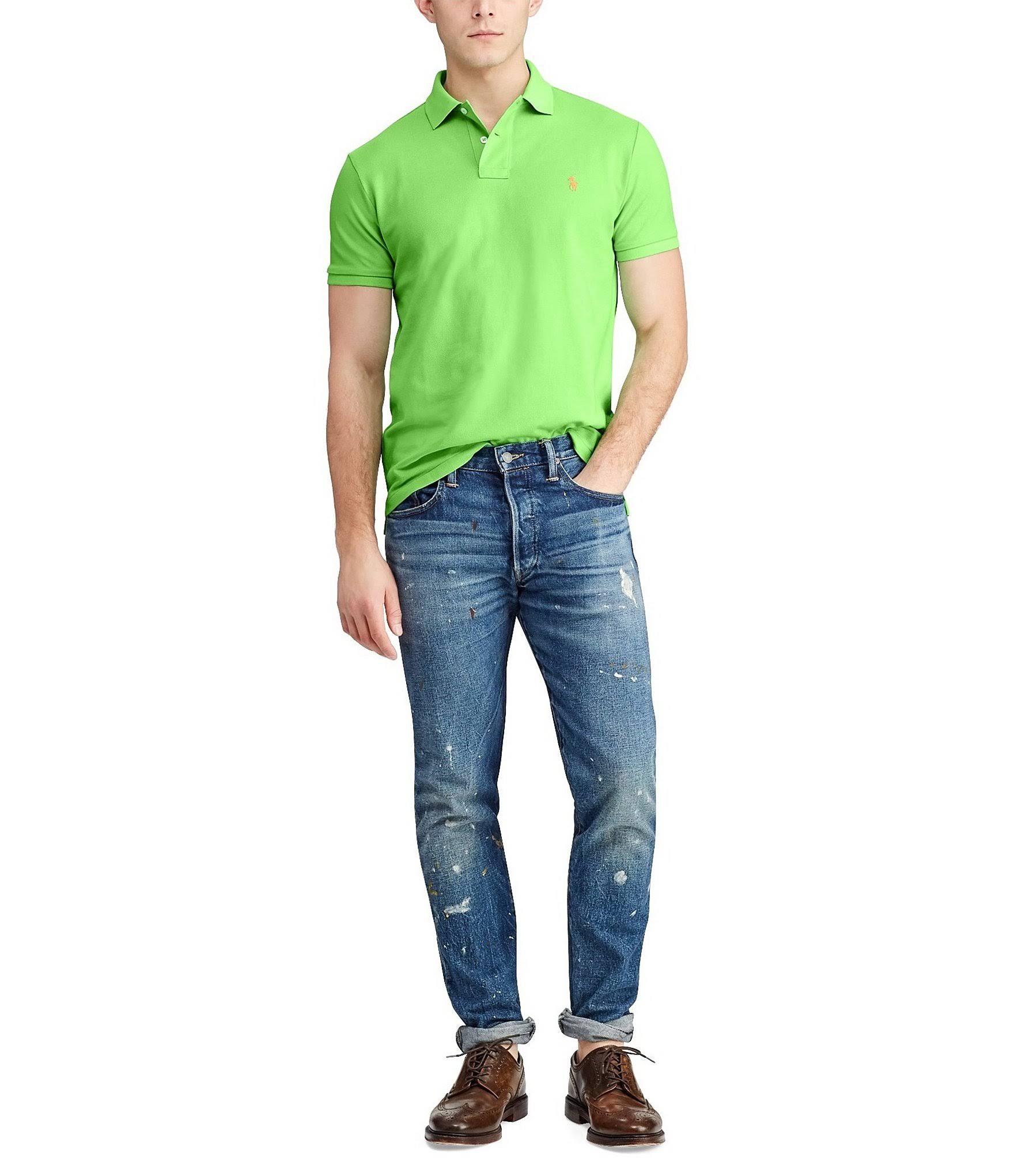 Mesh Ralph Lauren Hemd Fit Slim Polo Grün Z76xn8E